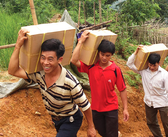 Bible Distribution in Vietnam.