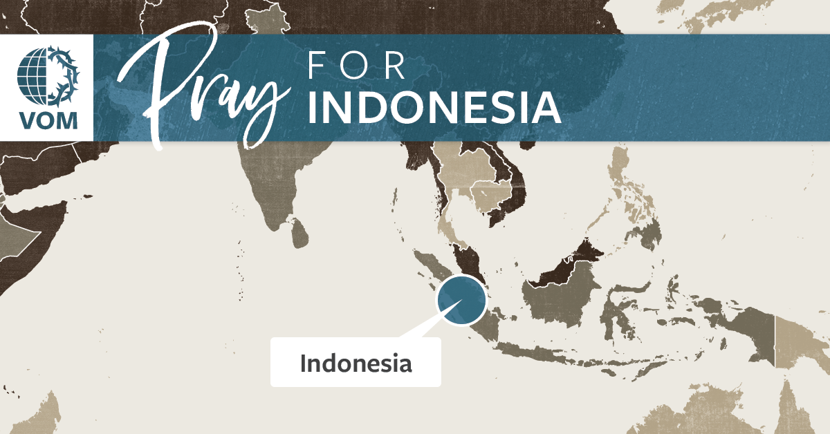 Map of Indonesia's location