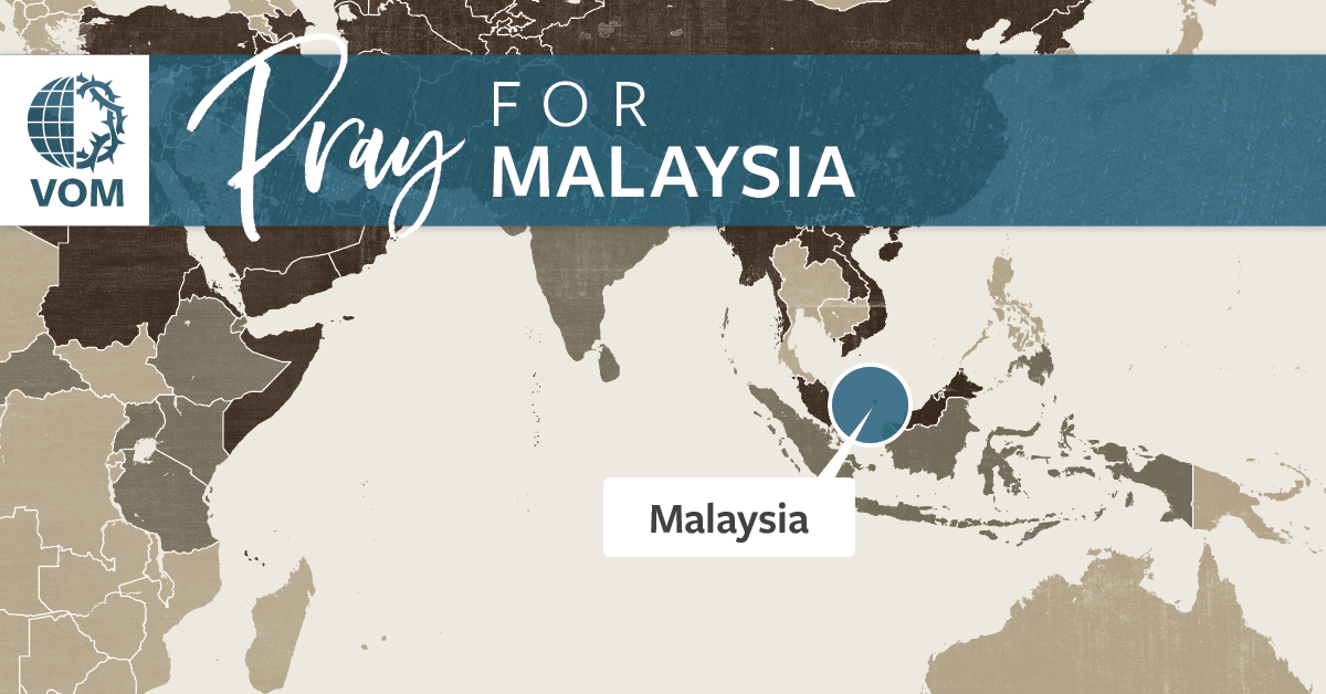 Map of Malaysia's location