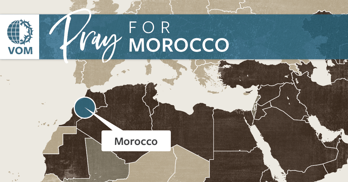 Map of Morocco's location