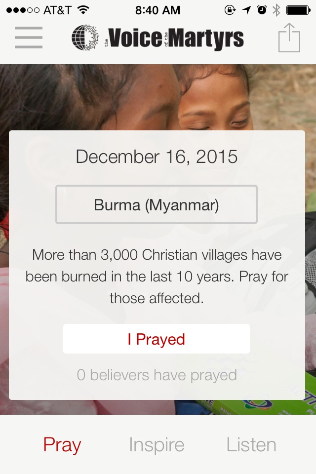 iOS App Screenshot - Prayer for Today